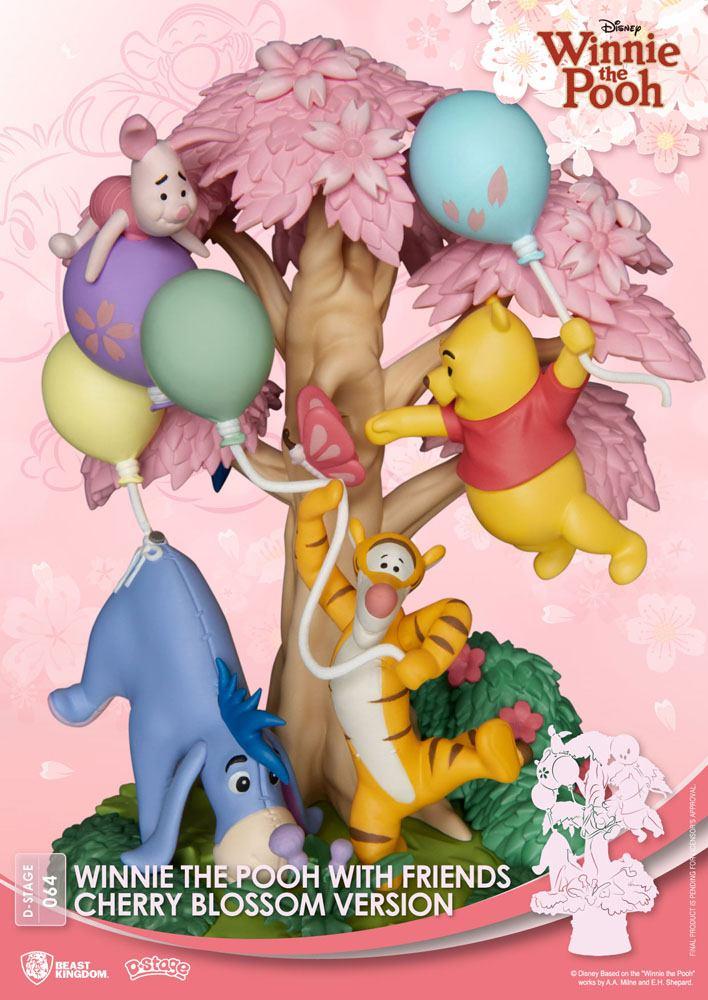 Disney D-Stage PVC Diorama Winnie the Pooh Cherry Blossom Version 15 cm