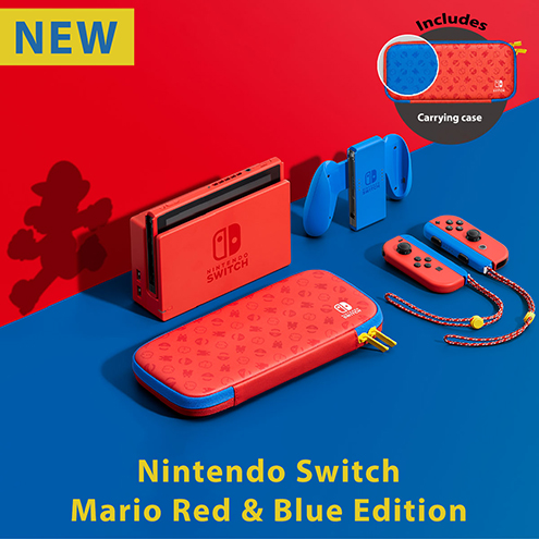 Switch Console Mario Red & Blue Special Edition