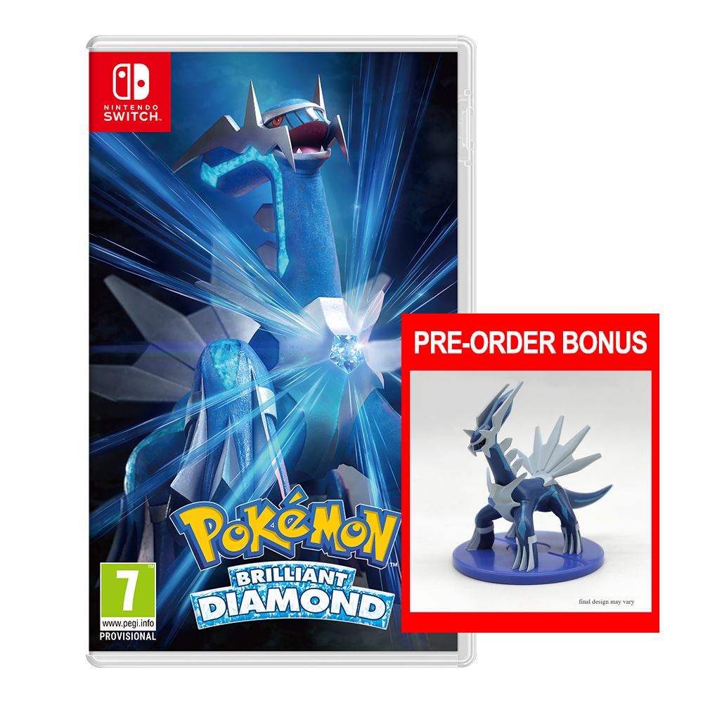 Pokemon Brilliant Diamond with Dialga Figurine (NS)