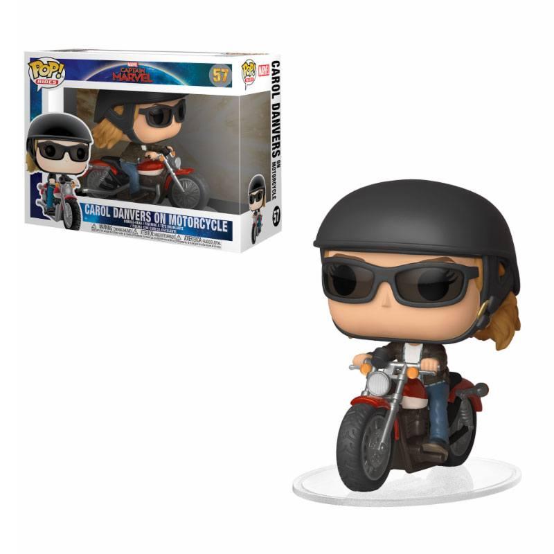 Captain Marvel POP! Rides Vinyl Figure Carol Danvers on Motorcycle 15 cm
