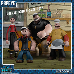 Popeye 5 Points Action Figures Deluxe Box Set 9 cm