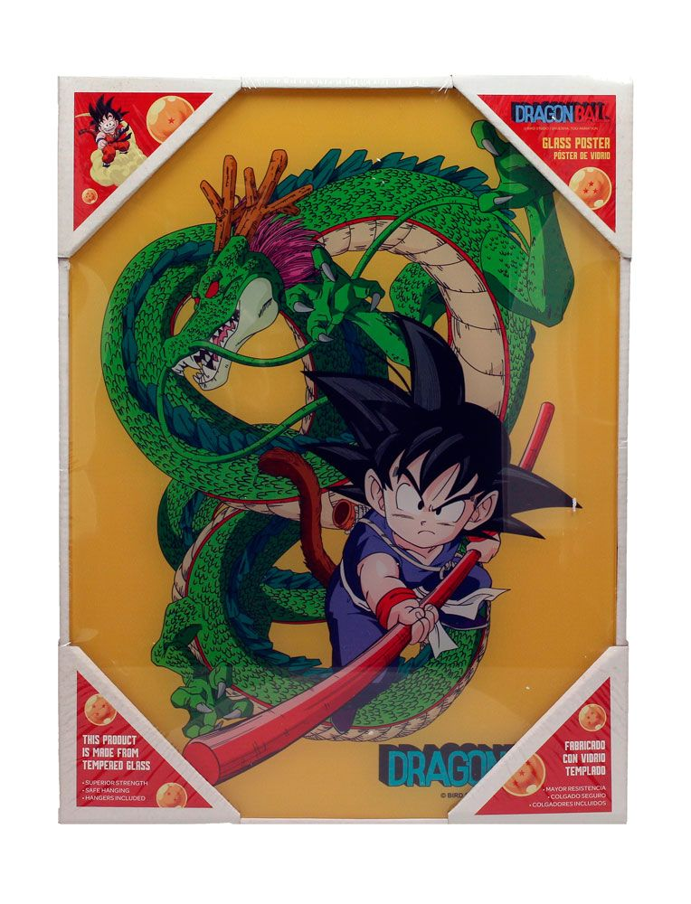 Dragon Ball Z Glass Poster Kid Goku & Shenron 30 x 40 cm